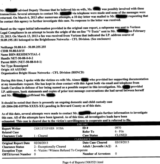 document 7 other allegations of false reporting targeted against individuals that questions the father scroll down to review order motion