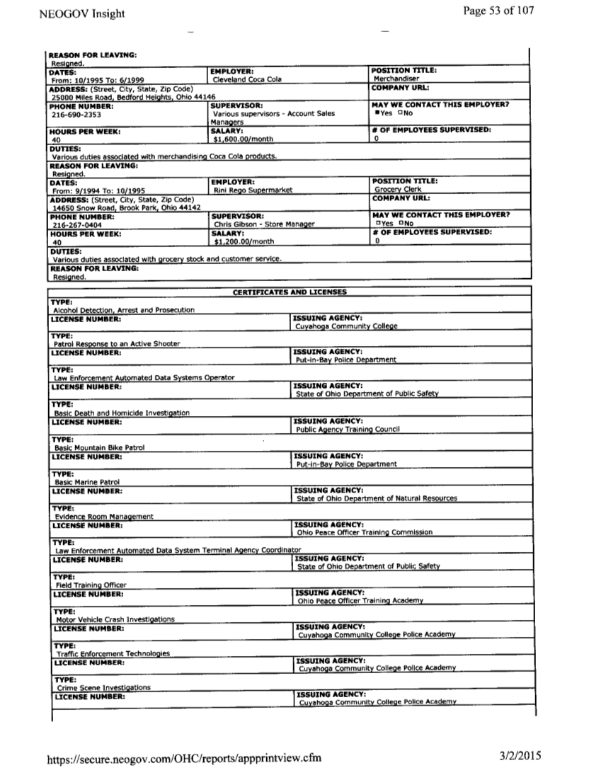 volusia exposed scroll down to view documents korossy s volusia county sheriff department employment records